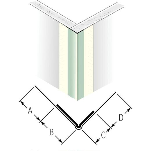 Beadex 1-7/16 In. x 10 Ft. Paper Faced Metal Outside Drywall Corner Bead