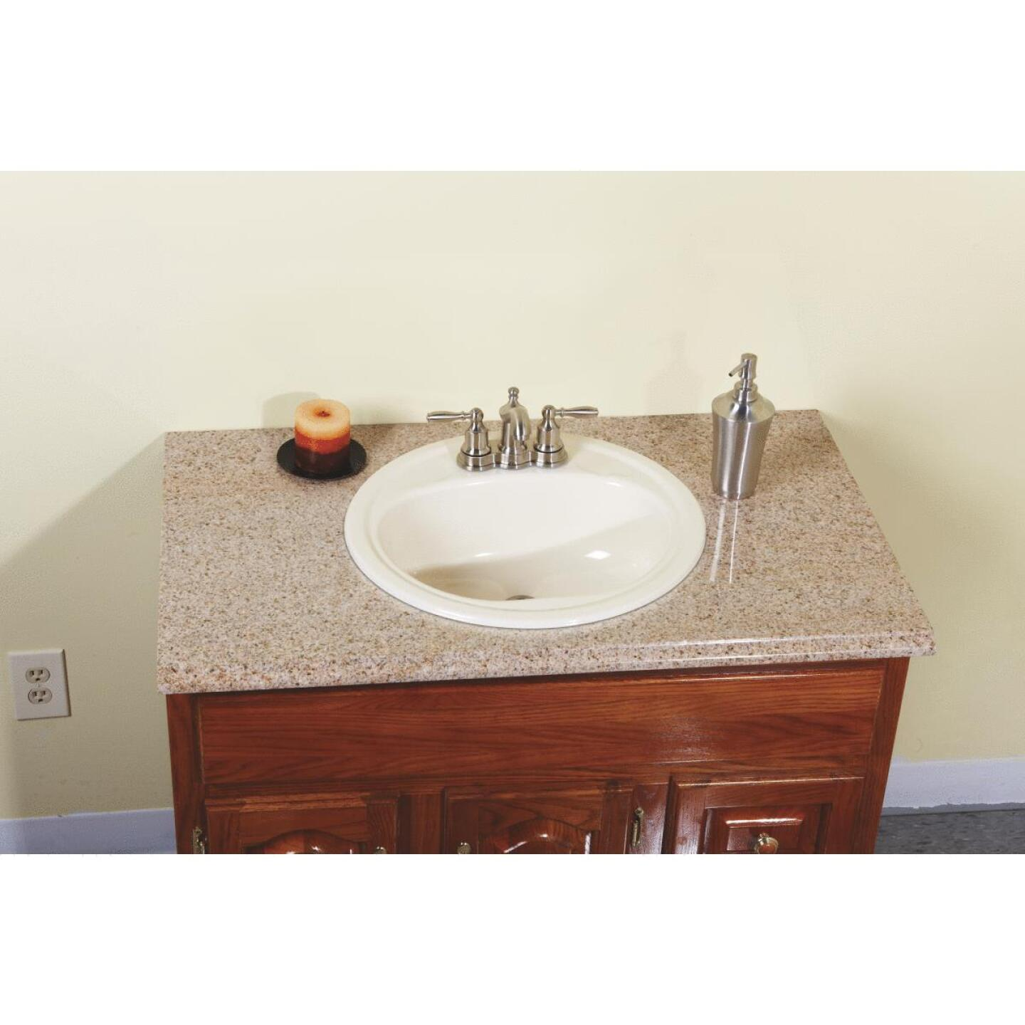 Briggs Anderson Round Drop-In Oval Bathroom Sink, Bone Image 2