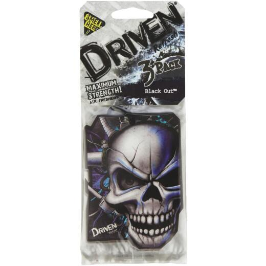 Driven by Refresh Your Car Paper Car Air Freshener, Black Out (3-Pack)