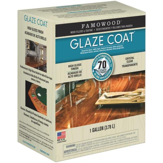 FAMOWOOD GLAZE COAT 128 Oz. High-Gloss Pour On Finish