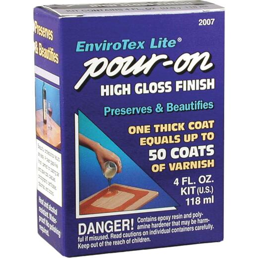 Envirotex Lite Pour-On 4 Oz. High-Gloss Finish