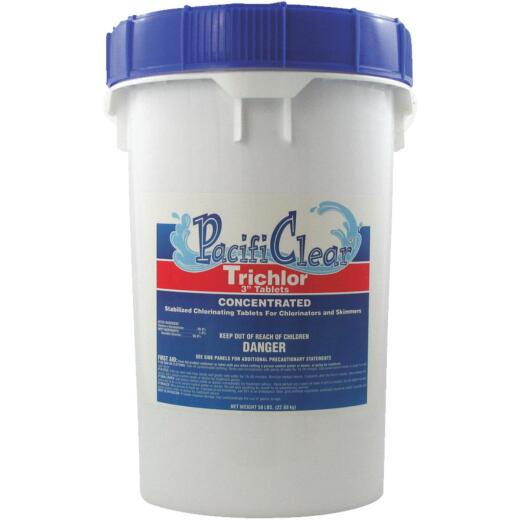 PacifiClear 3 In. 50 Lb. Trichlor Chlorine Tablet